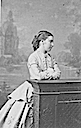 1867 Princess Helena resting on a wooden rail