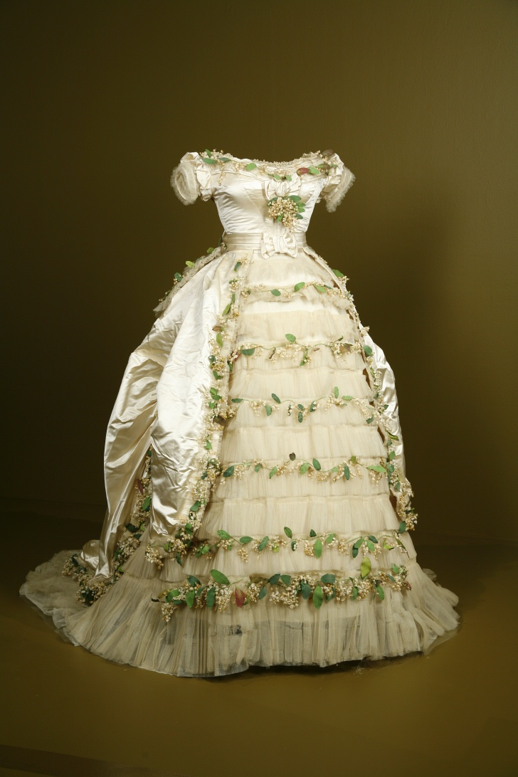 1869 Wedding Gown Of Elisabeth Of Wied Queen Consort Of Romania