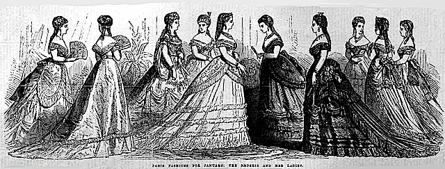 1869 Empress Eugenie and Ladies ILN Jan1870 EB