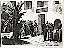 1869 Le Monde Illustré - The trip of the Empress and prince Imperial visit to Napoleon I's birth place at Ajaccio on 1 September