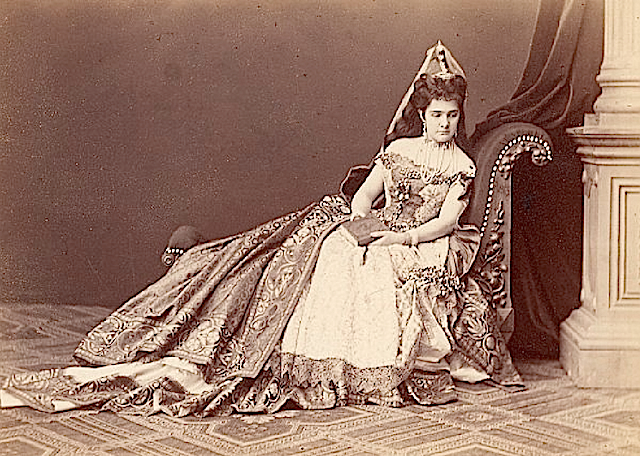 1869 Princess Leontine Furstenberg Wien in charity play (?) Old Adèle CC Photo 1 EB nostalgiapix