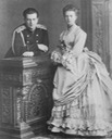 1870s (early) Maria Alexandrovna and her brother, Grand Duke Vladimir