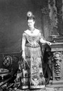 1870s Maria Pavlovna wearing striking theatrical dress