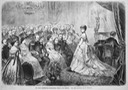 1872 A recital before the German Imperial Family from Die Gartenlaube