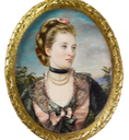 1873-1874 Princess Helena (1846-1923) when Princess Christian of Schleswig-Holstein miniature by Annie Dixon (Royal Collection) From pinterest.com:iphigenia168:art-is-in-the-eye-of-the-beholder: