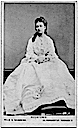 1870 Princess Louise in white dress by Hills and Saunders