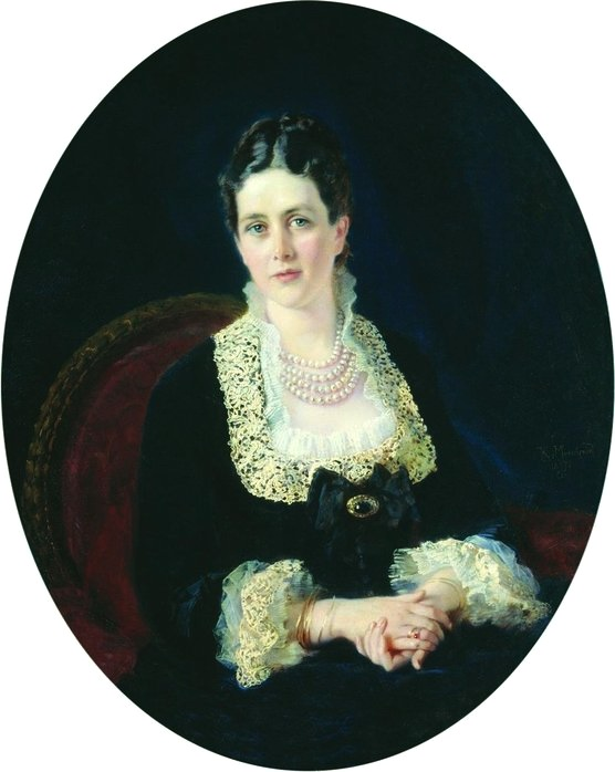 1877 Countess E.P. Sheremeteva by Konstantin Makovsky (Ostankino Palace Theater Museum, North-Eastern Administrative Okrug of Moscow)