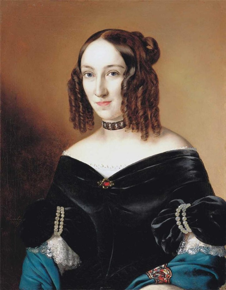 1879 (painted) Zsuzsanna Wesselényi by Miklós Barabás (private collection) Wm