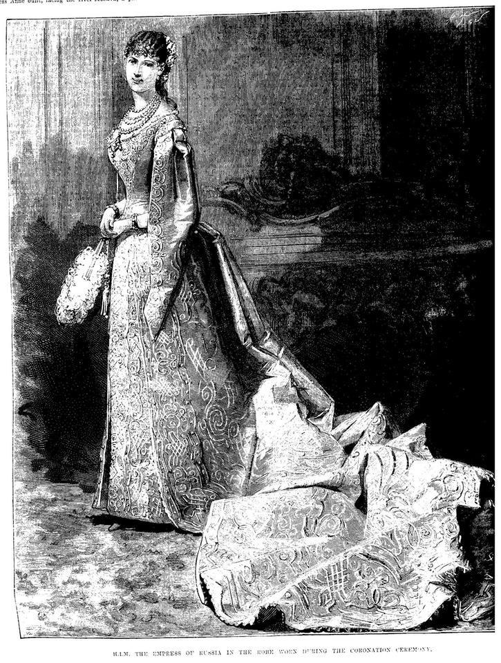1883 Empress Marie Feodorovna dressed for her coronation APFxkatmaxoz 25Dec09