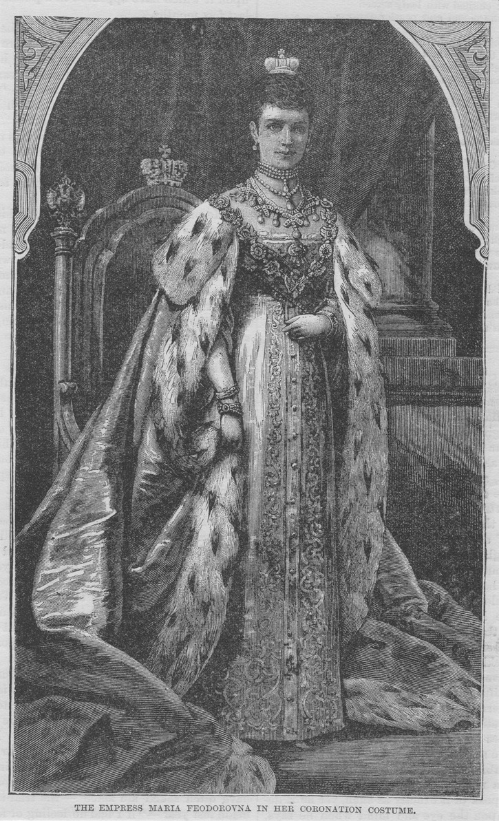 1883 Maria Feodorovna in coronation robes APFxkatmaxoz 20Nov10 detint