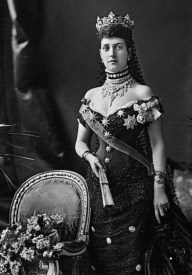 1883 Another famous portrait of Princess Alexandra wearing an evening gown