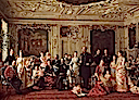 1883 Christian IX and Queen Louise with their family in a garden pavilion of the Fredensborg Palace