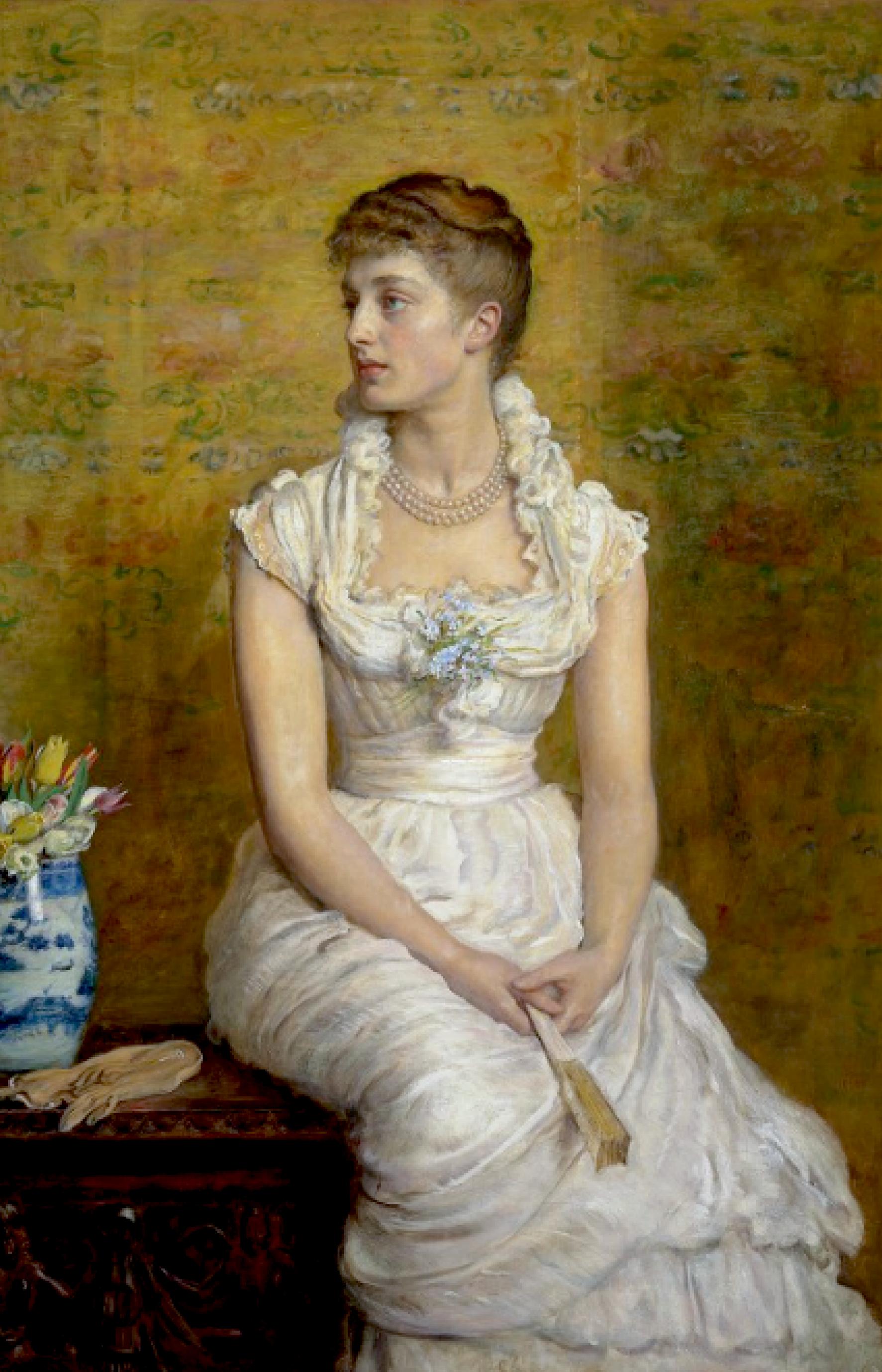 1884 lady campbell n e nina lehmann by sir john everett