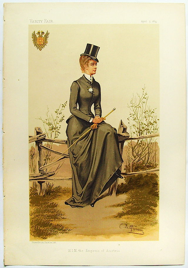 1884 Empress Sissi equestrienne Vanity Fair