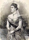 1885 Princess Beatrice in court dress
