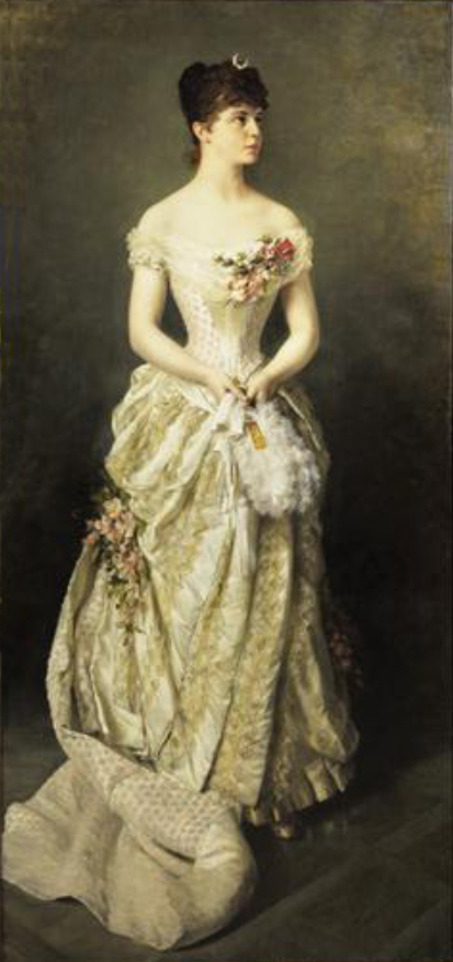 1885 Princess Elvira of Bavaria by K. Gampenrieder (auctioned by Sotheby's) From Sotheby's Web site trimmed