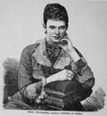 1887 magazine engraving of Maria Feodorovna