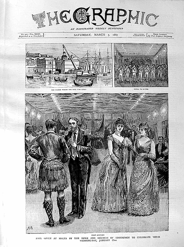 1887 Ball Malta Duke Duchess Edinburgh Wedding