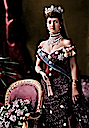 1883 Queen Alexandra colorized by justine