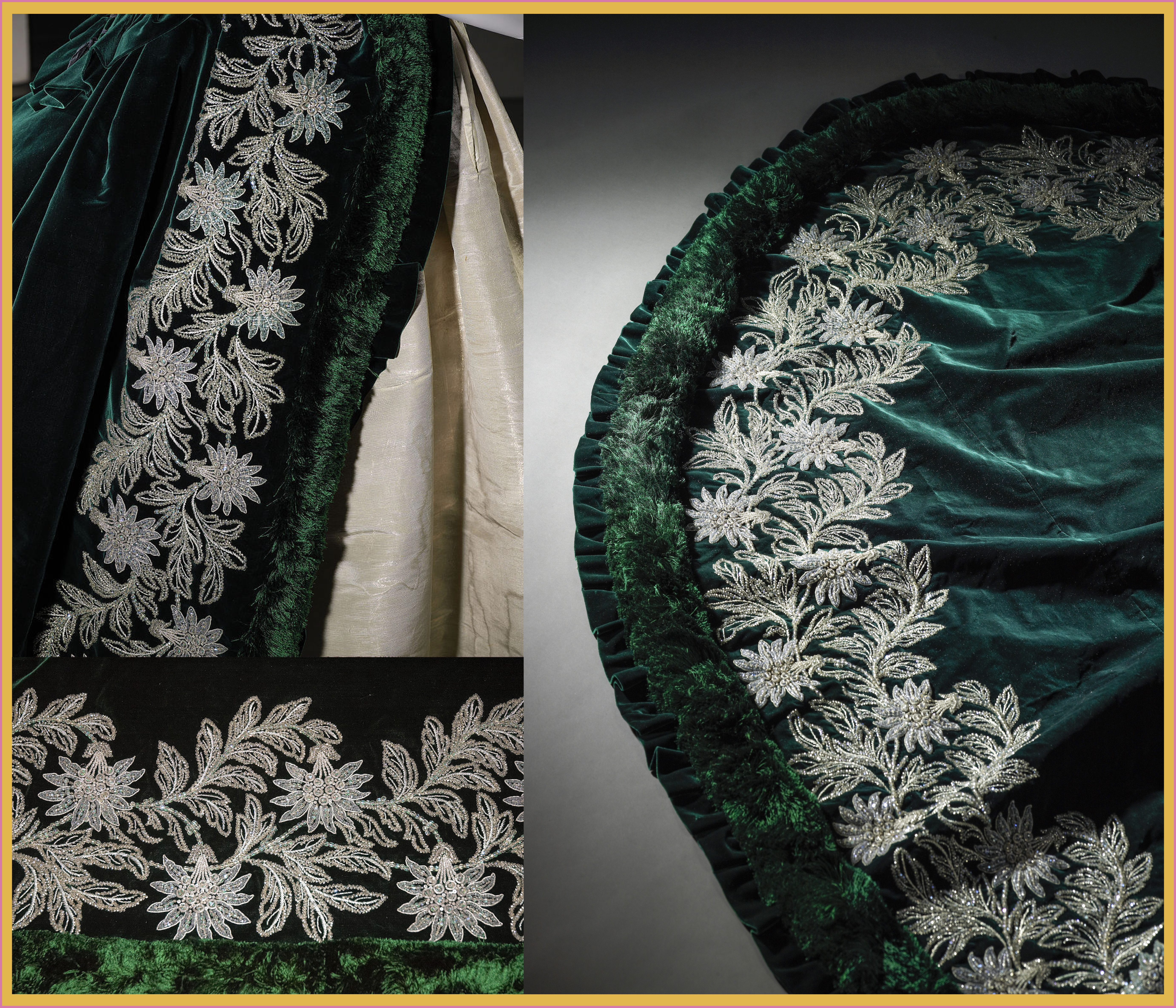 1888 Worth Gala Dress Of The Duchess Of Leuchtenberg Embroidery And