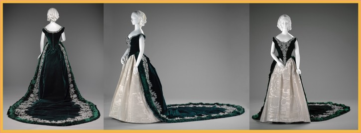 1888 Worth gala dress of the Duchess of Leuchtenberg (Indianapolis Museum of Art - Indianapolis, Indiana, USA) Wm