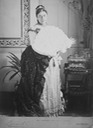 1890 Mary of Teck holding large fan the lost gallery detint despot background