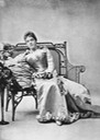 (1890s) Eulalia seated on bench From antiqueroyals.tumblr.com:page:8 detint