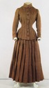 1890s Maria Feodorovna's tweed autumn-winter traveling day dress