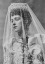 1891 Princess Daisy of Pless in wedding dress by ? From antique-royals.tumblr.com:post:153021106548:princess-daisy-of-pless-in-wedding-gown detint