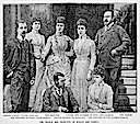 1891 Print Prince and Princess of Wales and family