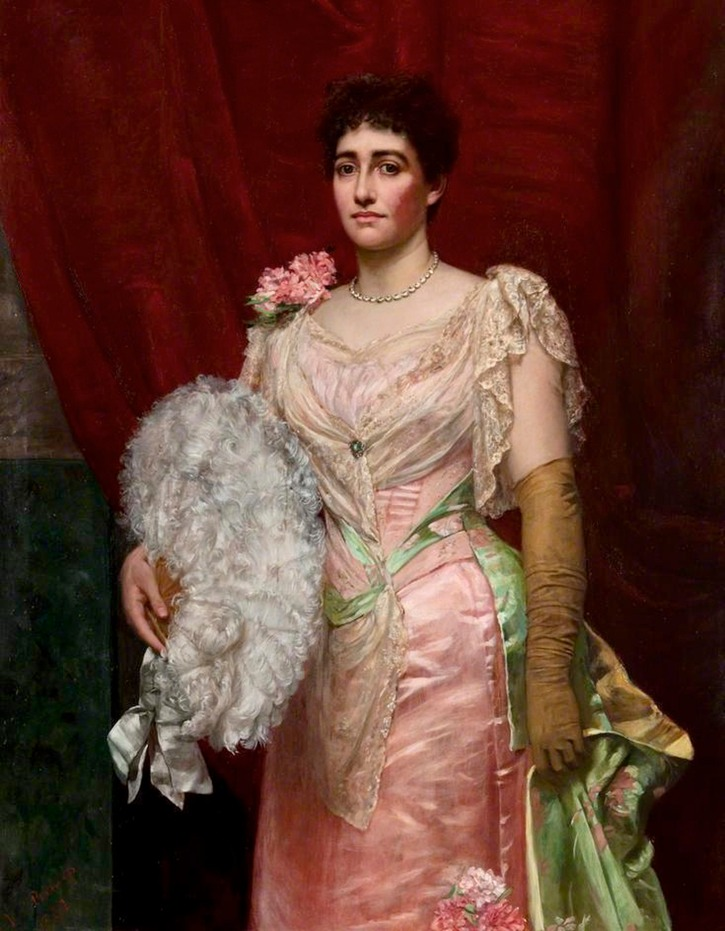 1892 Lady Simpson by Valentine Cameron Prinsep (Glasgow Museums - Glasgow UK) bbc.co lightened