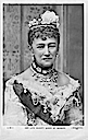 1893 Queen of Denmark posthumous release of Lafayette portrait post card