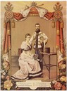 1894 Card for engagement of Alexandra and Nicholas
