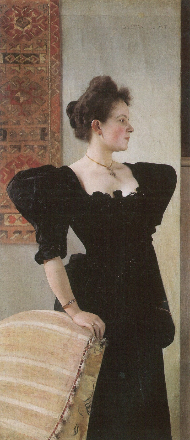 1894 Marie Breunig by Gutav Klimt (private collection) From Wikipaintings