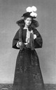 1894 Marie wearing a feathered hat