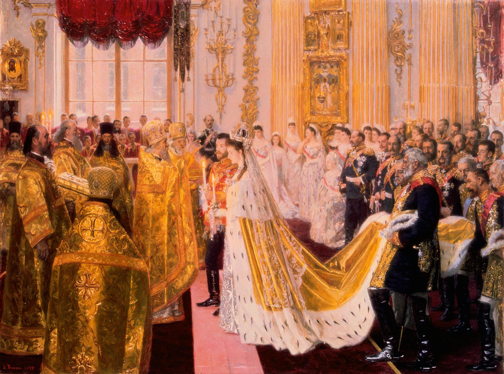 Russian Royal Wedding Dresses : Alexandra wedding by laurits tuxen royal collection