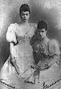 1894 Xenia and Dagmar posing together