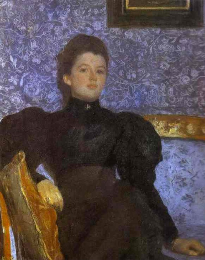 1895 Countess Varvara Pushkina By Valentin Serov (State Russian Museum, St.  Petersburg Russia