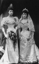 1896 Princess Maud wearing her wedding gown and Princess Toria