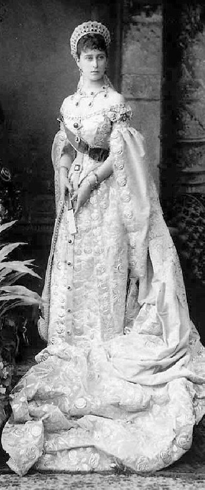 1896 Grand Duchess Elizabeth in court dress