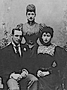 1896 (May) Alexandra, Maud, and Charles of Denmark engagement photo