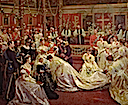 1896 The Marriage of Princess Maud of Wales by Laurits Tuxen (Royal Collection)