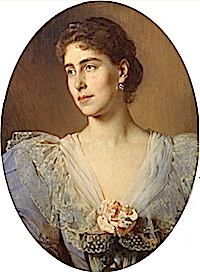 1896 Victoria Melita by Heinrich von Angeli (Royal Collection)