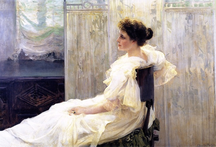 1897 Amalia Romea, Señora de La Iglesia by Joaquín Sorolla y Bástida (private collection) From the-athenaeum