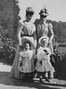 1898 Alexandra, Princess of Wales with daughter-in-law Mary of Teck, Princess Margarete of Denmark and Prince Edward of York at Bernstorff Slot From royalwatcher.tumblr.com/post/93305101930/teatimeatwinterpalace-alexandra-princess-of despot X 1.5