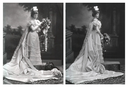 1898 Jemima Blackwood (later Lady Laveson) by Lafayette Photographic Studio front and back quarter images