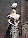 1900 Colored photo of Princess Alexandra