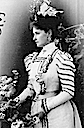 1898 Tsaritsa Alexandra in spotted dress