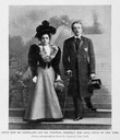 1899 Print Count Boni De Castellane Countess wife Anna Gould New York portrait