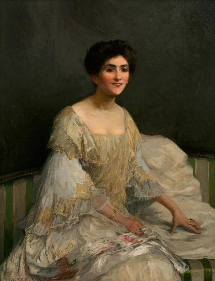 1899 The Bride (Lady Forbes) by Elizabeth Adela Forbes (Penlee House Gallery & Museum, Penzance UK) from bbc.co.uk